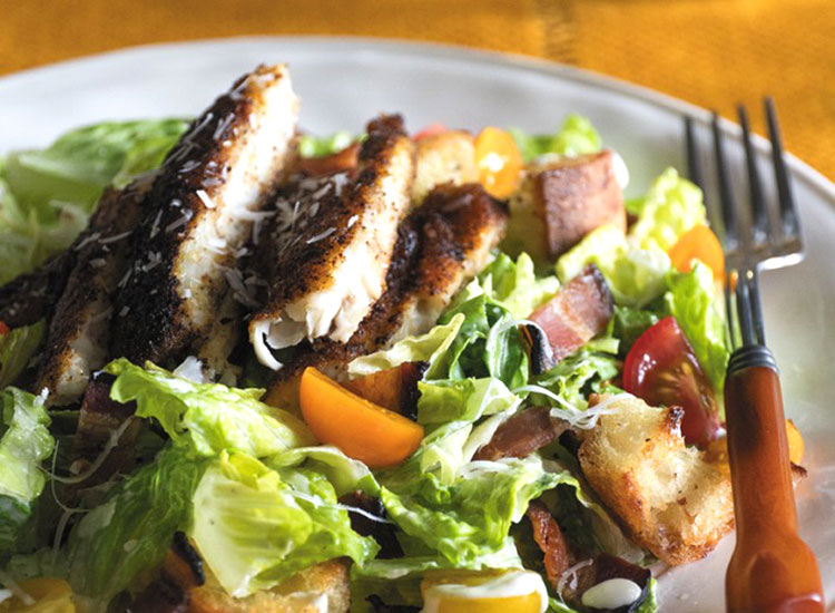 Blackened Catfish Caesar Salad