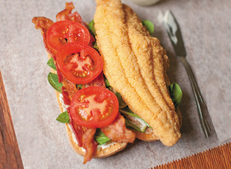 Catfish BLT with Lemon Aioli