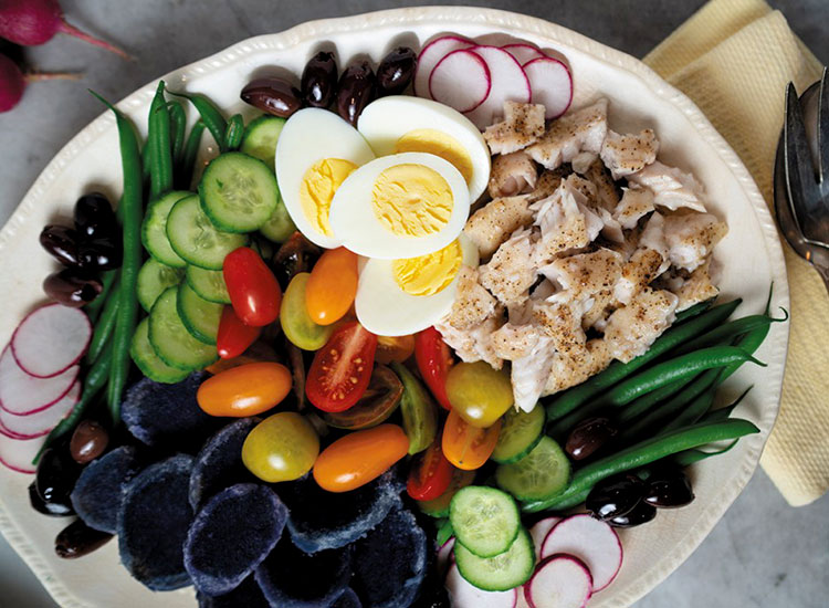 Catfish Nicoise Salad