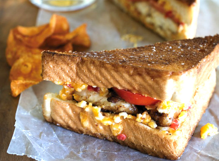 Catfish Pimiento Cheese Sandwich